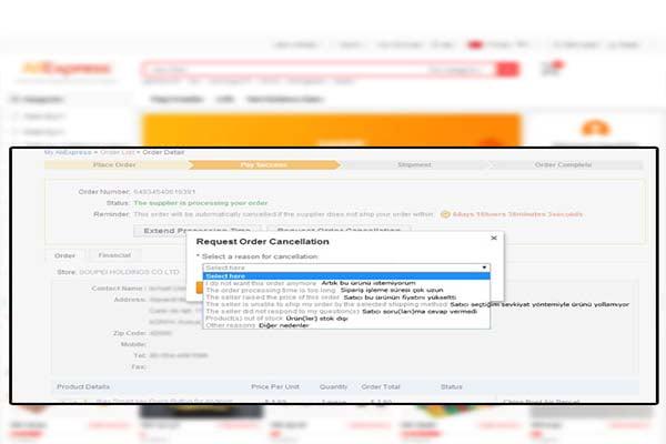 Aliexpress sipariş iptali nasıl yapılır-4