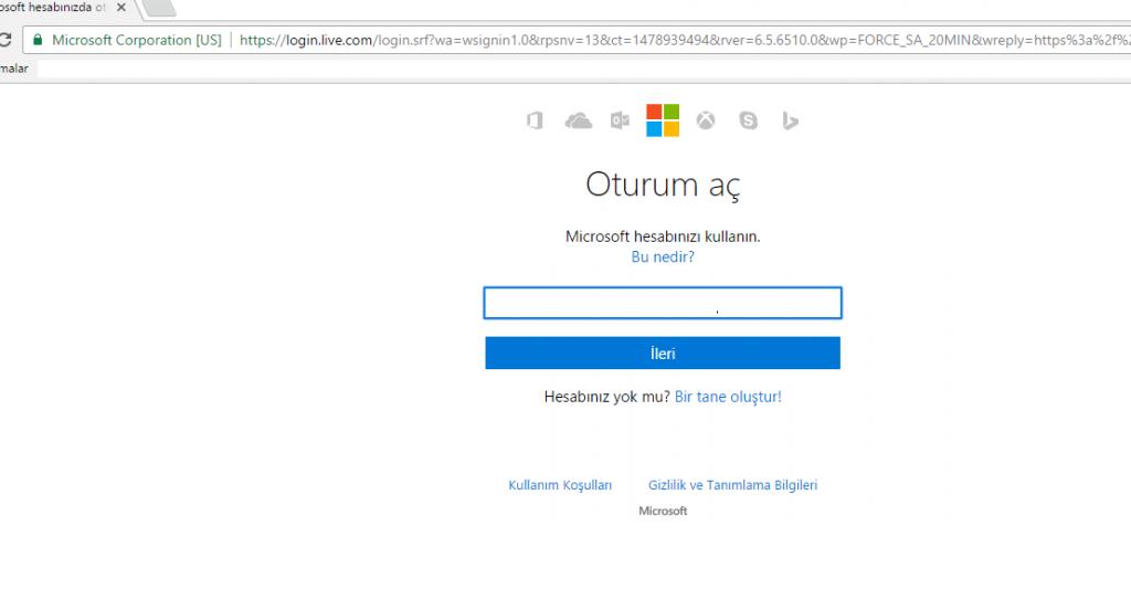 Microsoft hesabı Hotmail silme