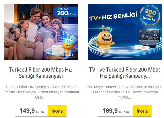 turkcell superonline internet paketleri